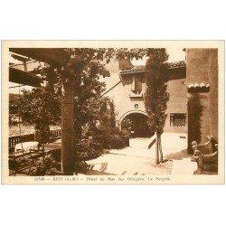 carte postale ancienne 06 BIOT. Pergola Hôtel du Mas des Orangers 1941