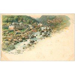 carte postale ancienne 65 CAUTERETS. Bains du Petit Saint-Sauveur. Carte pionnière vers 1900