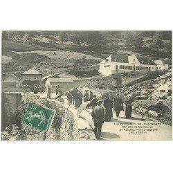 carte postale ancienne 65 CAUTERETS. Buvette Mauhourat route du Pont d'Espagne 1908