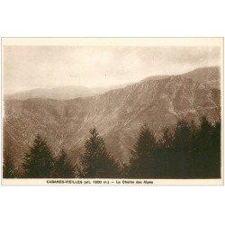 carte postale ancienne 06 CABANES -VIEILLES. La Chaîne des Alpes
