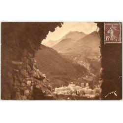 carte postale ancienne 65 CAUTERETS. Cabine ruines Bains Romains 1930