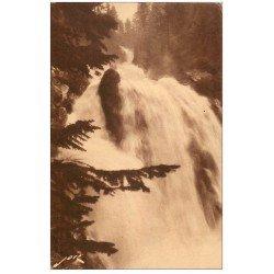 carte postale ancienne 65 CAUTERETS. Cascade de Lutour 111