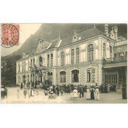 carte postale ancienne 65 CAUTERETS. Casino Place des Oeufs 1906