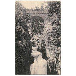 carte postale ancienne 65 CAUTERETS. Gouffre et Pont d'Espagne 1931