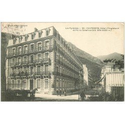 carte postale ancienne 65 CAUTERETS. Grand Hôtel d'Angleterre 1906 et Cabaliros