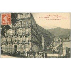 carte postale ancienne 65 CAUTERETS. Grand Hôtel d'Angleterre Boulevard Latapie 1911