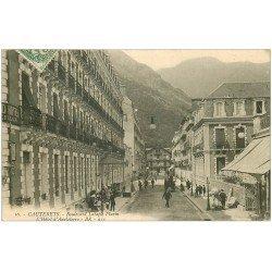 carte postale ancienne 65 CAUTERETS. Grand Hôtel d'Angleterre Boulevard Latapie Flurin 1909