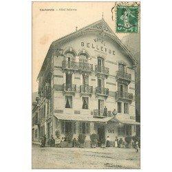 carte postale ancienne 65 CAUTERETS. Hôtel Bellevue 1909