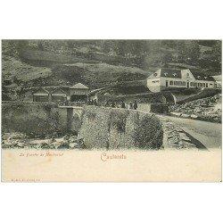 carte postale ancienne 65 CAUTERETS. La Buvette de Mauhourat vers 1900