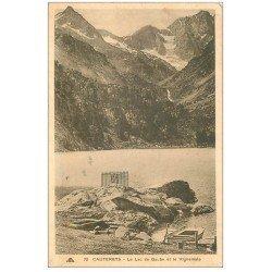 carte postale ancienne 65 CAUTERETS. Lac de Gaube et Vignemale. Timbre manquant