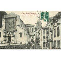 carte postale ancienne 65 CAUTERETS. L'Eglise 1908