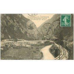carte postale ancienne 65 CAUTERETS. Limaçon route de Pierrefitte 1921