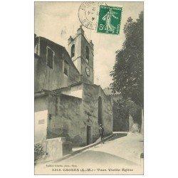 carte postale ancienne 06 CAGNES. Tou vieille Eglise 1912