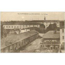 carte postale ancienne 01 SAINT-DIDIER-SUR-CHALARONNE. Le Collège