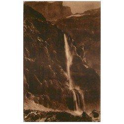 carte postale ancienne 65 GAVARNIE. Au Cirque, Grande Cascade