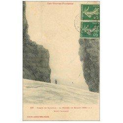 carte postale ancienne 65 GAVARNIE. Cirque et Brèche de Roland 1917