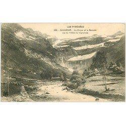 carte postale ancienne 65 GAVARNIE. Cirque et Cascade