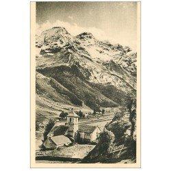 carte postale ancienne 65 GAVARNIE. Eglise et Cirque