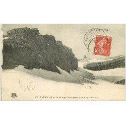 carte postale ancienne 65 GAVARNIE. Le Glacier et la Fausse Brèche 1929