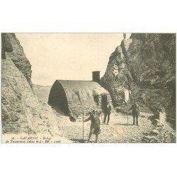 carte postale ancienne 65 GAVARNIE. Le Refuge à la Brêche de Tuquerouye. Alpinistes Randonneurs