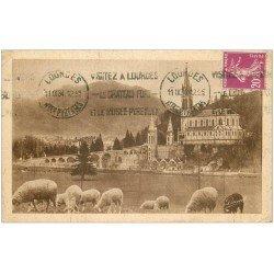 carte postale ancienne 65 LOURDES. Basilique Pic du Jer 1934