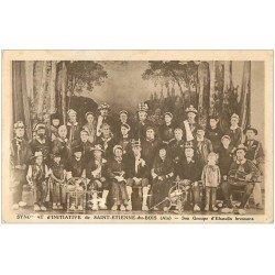 carte postale ancienne 01 SAINT-ETIENNE-DU-BOIS. Groupe d'Ebaudis bressans.