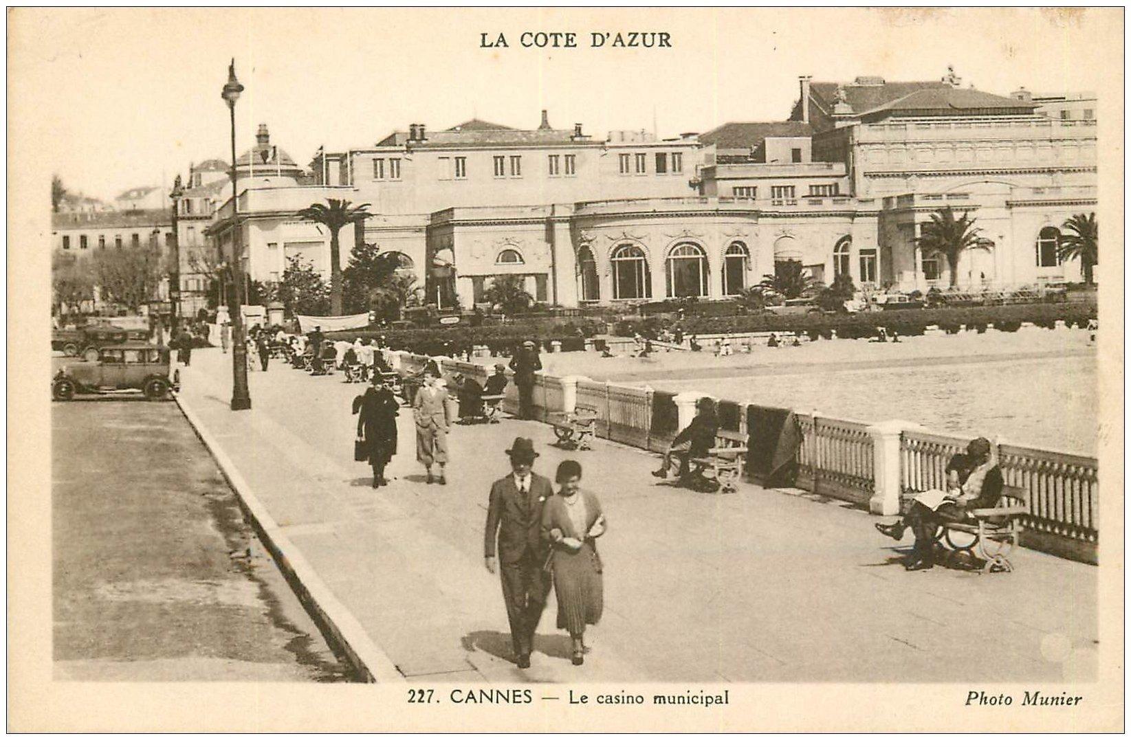 carte postale ancienne 06 CANNES. Casino Municipal. Munier