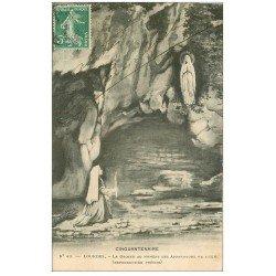 carte postale ancienne 65 LOURDES. Grotte des apparitions