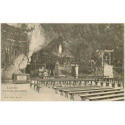 carte postale ancienne 65 LOURDES. Grotte miraculeuse 28