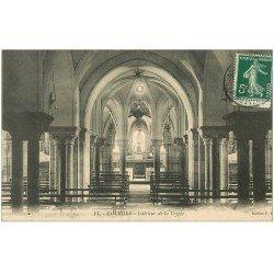 carte postale ancienne 65 LOURDES. Intérieur de la Crypte 1910