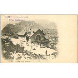 carte postale ancienne 65 LOURDES. La Gare Funiculaire vers 1900