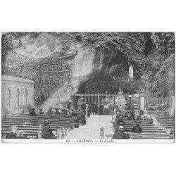 carte postale ancienne 65 LOURDES. La Grotte 1910 n°63