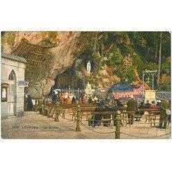 carte postale ancienne 65 LOURDES. La Grotte 1932
