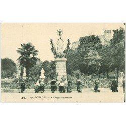 carte postale ancienne 65 LOURDES. La Vierge Couronnée 1927