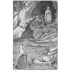 carte postale ancienne 65 LOURDES. L'Apparition