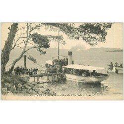 carte postale ancienne 06 CANNES. Débarcadère de l'Ile Saint-Honorat