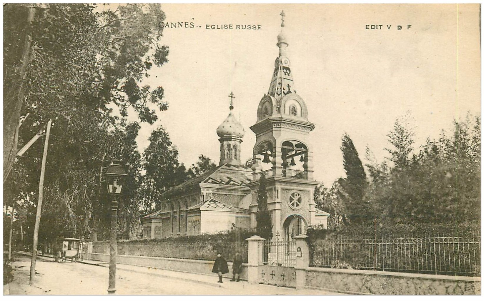 carte postale ancienne 06 CANNES. Eglise Russe