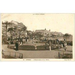 carte postale ancienne 06 CANNES. Esplanade et Hôtel