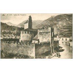 carte postale ancienne 65 LUZ-SAINT-SAUVEUR. Eglise des Templiers 1927