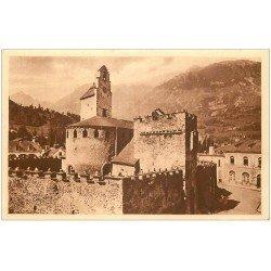 carte postale ancienne 65 LUZ-SAINT-SAUVEUR. Eglise des Templiers LL 37