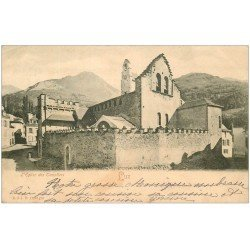 carte postale ancienne 65 LUZ-SAINT-SAUVEUR. Eglise des Templiers vers 1900