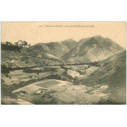 carte postale ancienne 65 MASSIF DE LHERIS 1912. Pli coin gauche