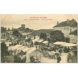 carte postale ancienne 65 MAUBOURGUET. Marché Place aux Grains