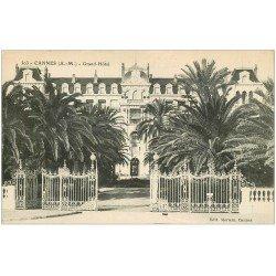 carte postale ancienne 06 CANNES. Grand Hôtel 303