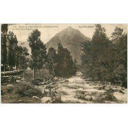 carte postale ancienne 65 ROUTE DE CAUTERETS PIERREFITTE. Gave et Péguère