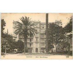 carte postale ancienne 06 CANNES. Hôtel Beau Rivage 621