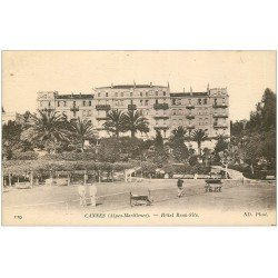 carte postale ancienne 06 CANNES. Hôtel Beau Site avec Tennis 119