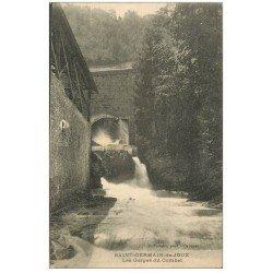 carte postale ancienne 01 SAINT-GERMAIN-DE-JOUX. Les Gorges du Combat