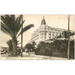 carte postale ancienne 06 CANNES. Hôtel Carlton 37