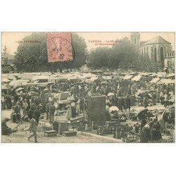 carte postale ancienne 65 TARBES. Le Marché du Marcadien 1905